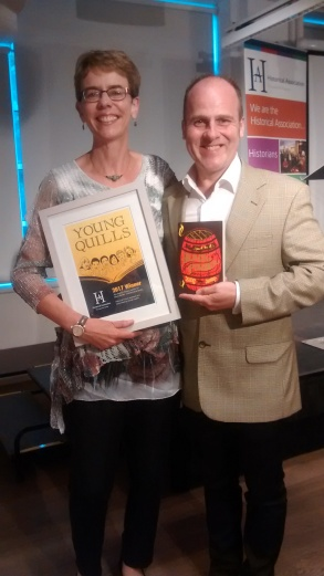 Ally with judge and illustrator Martin Impey
