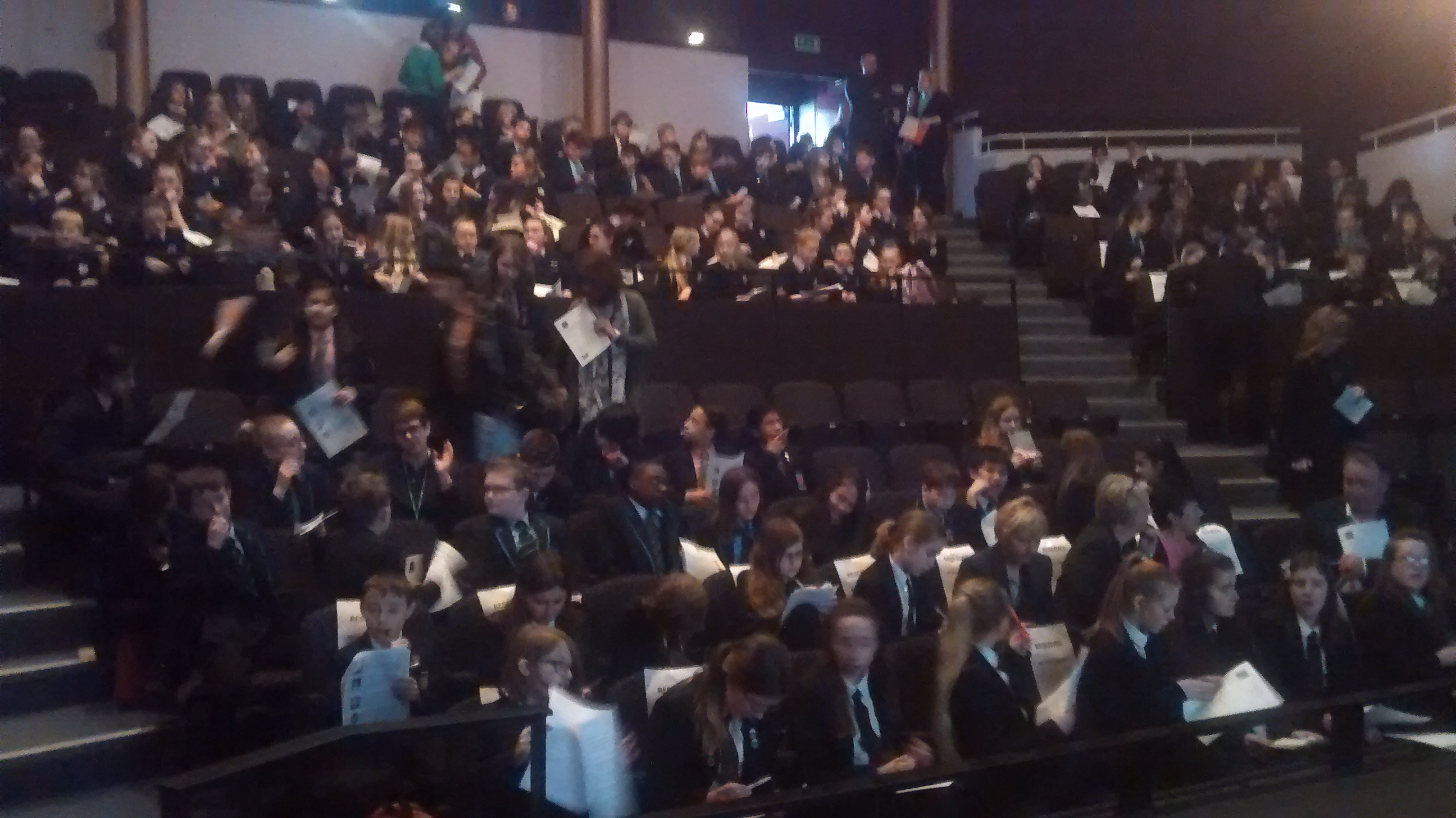 Audience at Dudley Teen Book Awards
