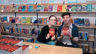 Leonie and Gavin, children's booksellers from Waterstones Basingstoke