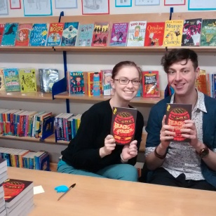 Leonie and Gavin, children's booksellers from Waterstones Basingstoke