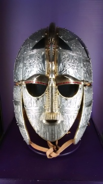 Sutton Hoo helmet face on