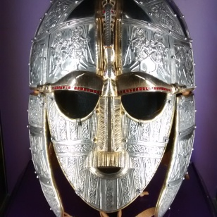 Sutton Hoo helmet face on