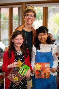 Ally with the lucky prize-winners - Paul Stead Photography