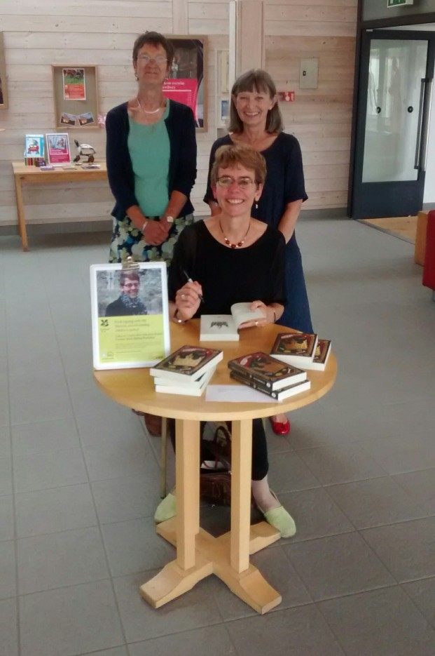 Ally with the two Sallys at National Trust Sutton Hoo