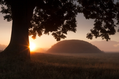 Burial Mound, Sutton Hoo - picture courtesy of the National Trust