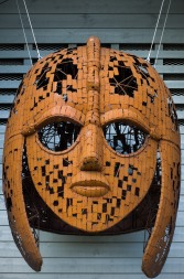 Sculpture of the famous Sutton Hoo Helmet - picture courtesy of the National Trust
