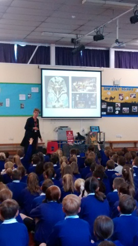 Ally giving assembly talk