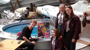 Ally with young artists from Alsager School